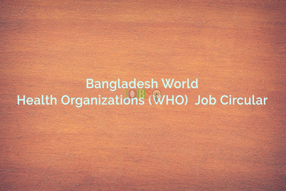 circular on World Health Organization